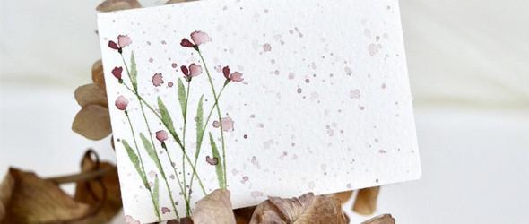 简单而美的水彩卡片:Tremen Tina