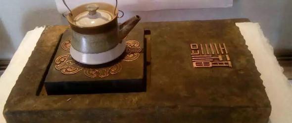 汉砖改制多功能茶承、香插