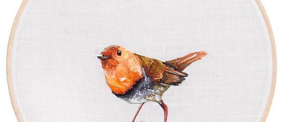 山林垃圾变成的刺绣动物乐园 | 台湾艺术家陳聖文的刺绣艺术