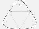 简单的免费图纸   三角形皮革零钱包