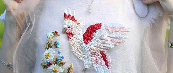 超美!仙气十足的薄纱刺绣