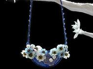 一束清香 | 艺术项链 | 织锦缎项链