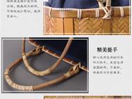 传统仿古手工竹编手提包/手提收纳篮/茶具收纳包