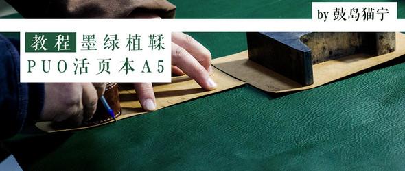 【教程】墨绿植鞣 PUO A5多功能活页拉链手帐包