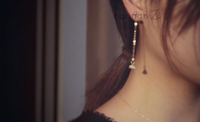【听风说梦】楠楠小张漫生活气质长款耳环女个性创意耳钉时尚耳坠