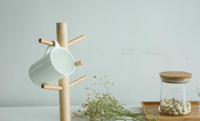 梵瀚 杯架 水杯挂架 创意悬挂实木公主首饰架 展示架饰品收纳架