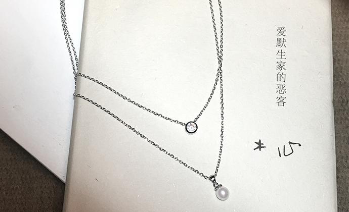 M.Q奎妮小姐 精致百搭925纯银天然珍珠双层项链