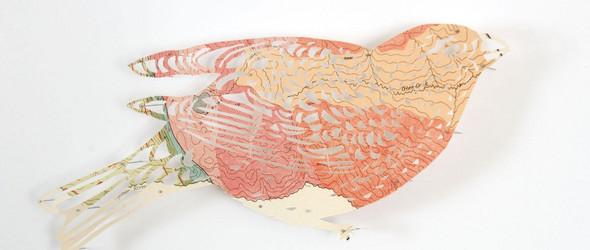 当废弃的地图变成栩栩如生的艺术剪纸 ・Claire Brewster