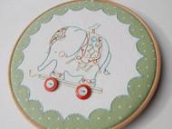 手工刺绣  童真 曼谷小象