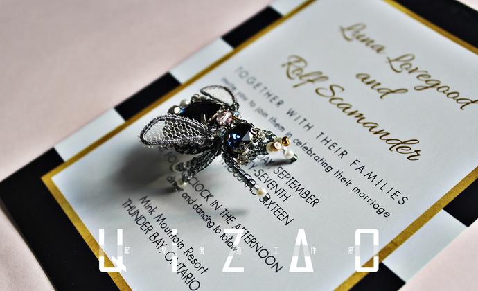 刺绣花线昆虫胸针蝴蝶印度丝立体绣电子教程书法式法国刺绣昆虫DIY材料包