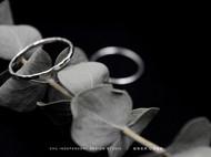 【素默】知初原创手工银饰 或方或圆 山丘 999纯银戒指 简约尾戒