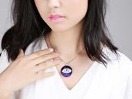 """AileenGift独立设计师品牌原创款""""瞳""""项链 立体绣工艺"""