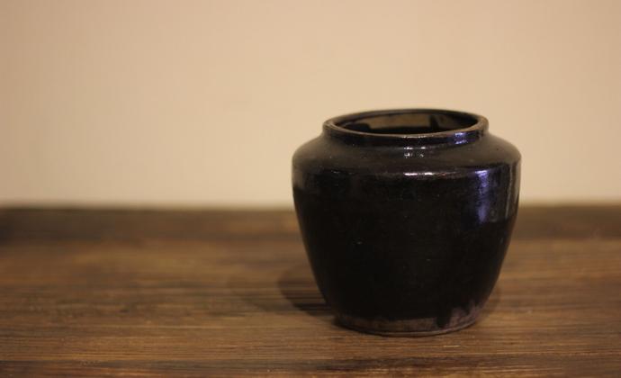 山西窑口老黑釉罐