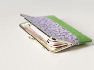 漫与手工:原创长款布艺钱包 手拿包 票据夹子 蕾丝 薰衣草园