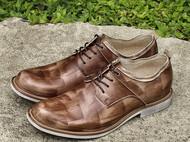 秋季新款英伦复古布洛克雕花潮流牛皮真皮男士牛津皮鞋
