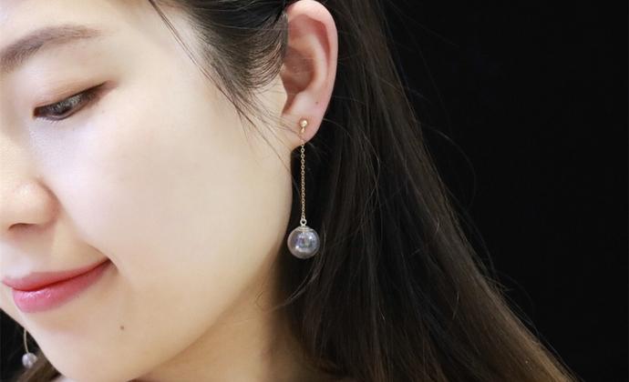 【梦幻泡影】楠楠小张漫生活手工原创不对称耳环耳链不褪色简约