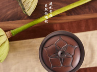 盛开如莲盖碗-建水紫陶【泰子陶艺】中国古典风 纯手工原创定制