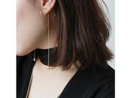 MQ奎妮小姐 可爱萌妹纸必备天然珍珠爱心耳钉/长耳线