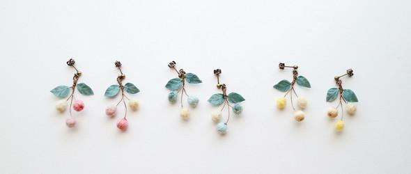 她手工创造的布花配饰,从自然中来,带着自然的气息 | @kaho_hm