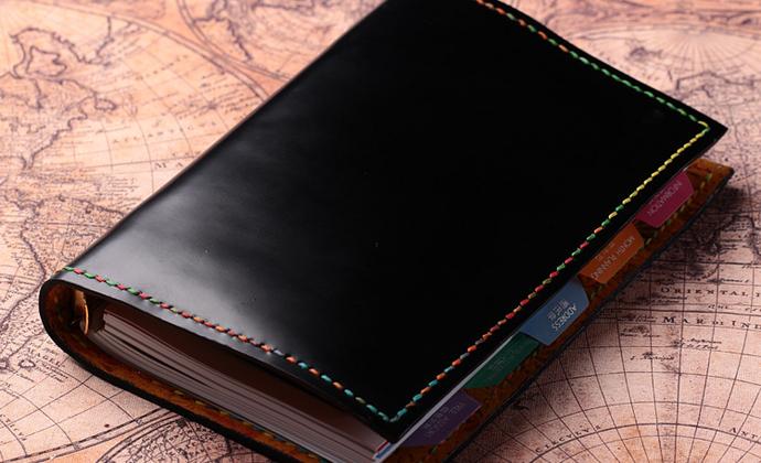手工牛皮羊皮万用手册  A6活页本子 写字的东西,不要那么沉闷