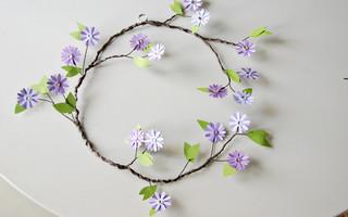 DIY悬挂式纸花环