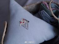 手工 刺绣 抱枕