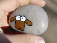 手绘石头 羊羊羊