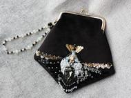【LXB私人设计】飞鸟__法式刺绣 重工钉珠口金包