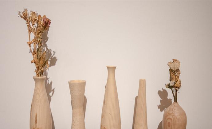 实木车旋花瓶