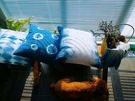 草木染之靛蓝抱枕