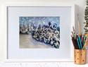 羊毛艺术画diy教程:适合入门新手的冬天雪景