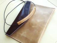 【信】monster-66纯手工牛皮复古色信封手拿大包