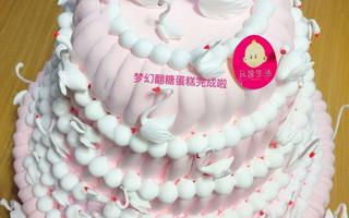 【原创】DIY情人节小天鹅翻糖蛋糕(内附教程)