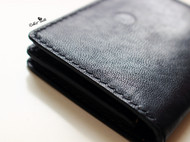【软绵绵】纯手缝黑色植鞣羊皮名片包