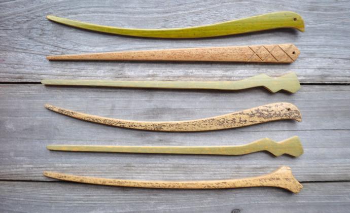 竹发簪  竹茶针