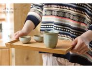 梵瀚 茶托盘糕点水果西餐早餐餐盘 日式餐具创意竹木长方形 托盘