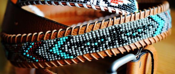 #串珠教程# 手工编织美国印第安风格的串珠腰带DIY教程