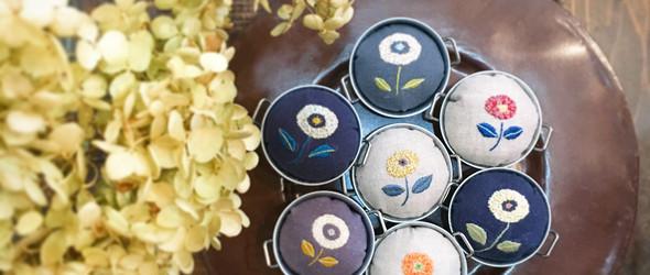 日本刺绣艺术家近藤実可子(Mikako Kondo)唯美清新的刺绣作品集