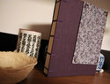 西式缝订手工本子教程 紫秋之蜻蜓