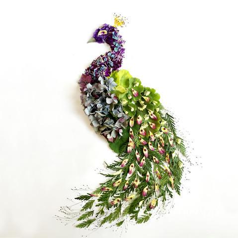 关于冬天的诗_艺术家Bridget Collins |想象力将植物花卉变成生动的拼贴画 - 手工客 ...