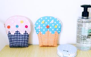 手工布艺教程 - 制作可爱的冰淇淋小手包