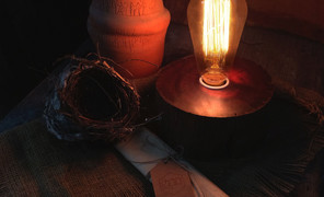 用百年老木点一盏灯,物尽其用,