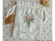 花事未了手作手工刺绣布艺青木和子图样花之故事双面绣束口袋储物袋