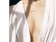 M.Q奎妮小姐 /eiffel / 优雅天然珍珠长链/项链