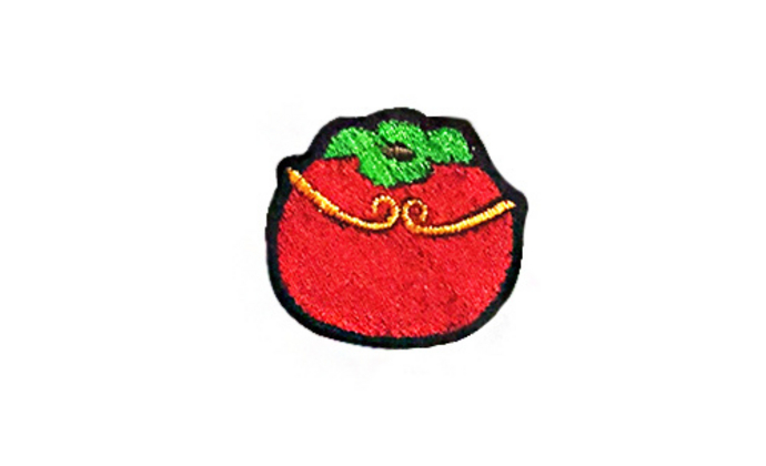 有堂原创【柿柿如意】刺绣小别针