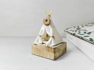 白棉帐篷手工原创景观模型家居装饰艺术摆件吉祥生日节日创意礼物