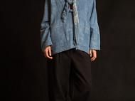 植物蓝染手织布休闲外套indigo孤品-独立设计师品牌[荒腔]