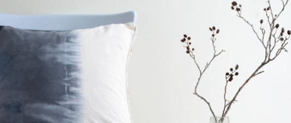 DIY教程翻译:DIY蓝白相间的蜡染(天然染色)靠垫或枕头套