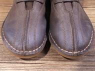真皮系带民族风女短靴