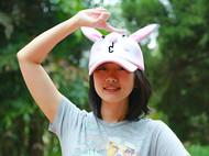 张可爱原创春夏甜美萌范鸭舌帽休闲帽亲子款波波兔子粉色 腔调